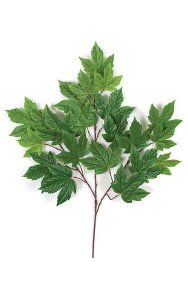 "29"" Sycamore Branch - 21 Leaves - Green - FIRE RETARDANT"