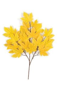 "29"" Sycamore Branch - 21 Leaves - Gold - FIRE RETARDANT"