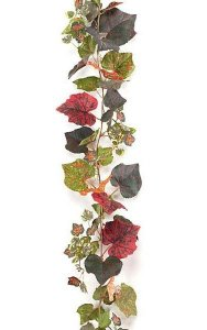 6' Grape Leaf Garland - Multi Fall - FIRE RETARDANT