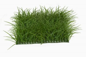 20 INCH X 20 INCH 8 inch Tall DARK GREEN PLASTIC WILD LONG GRASS