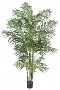8' Areca Palm Tree - 6 Synthetic Canes - 33 Fronds - Weighted Base