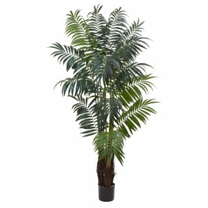 7.5' Areca Palm Tree 702 Lvs with Natural Fiber Trunk