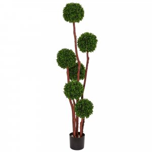 5' Exotic Ball  Boxwood Topiary  Tree UV Resistant (Indoor/Outdoor)