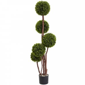 EF-1835 4' Outdoor UV Resistant Plastic Boxwood Ball Topiary