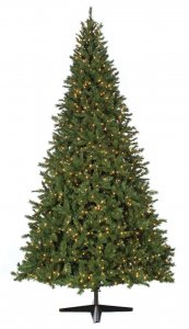 9' Winchester Pine Christmas Tree - Full Size - 800 Multi - Colored LED Lights