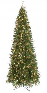 9' Mixed Needle Pine Christmas Tree - 100 Pine Cones - 750 Warm White LED Lights
