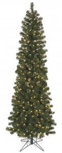 "6' Virginia Pine Christmas Tree - Pencil Size - 26"" Width - Wire Stand"