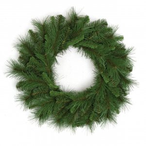 "24"" Mixed Pine Wreath - 75 Mixed Green Tips"