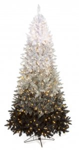 5' Ombre Christmas Tree - Slim Size - 250 Winter White 5.5mm LED Lights