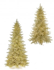 Earthflora's 5 Ft., 7.5 Ft., 9 Ft., 12 Ft., 15 Ft. - Deluxe Sparkling Champagne Trees With 3mm Cluster Led Lights