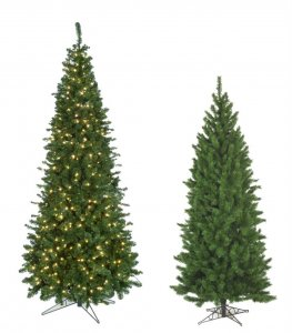 9' Winchester Pine Christmas Tree - Pencil Size - 1,578 Green Tips - Wire Stand