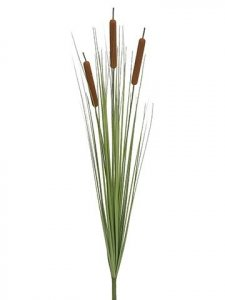 "EFA-304  36"" Large Cattail Bush x3 w/Onion Grass Brown (Price is for a DZ set)"