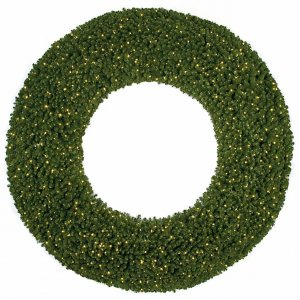"10' Commercial Pine Wreath - Double-Ring - 42"" Inside Diameter"
