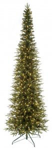 9' Nordman Fir Christmas Tree - Pencil Size - 600 Warm White 5.5mm LED Lights