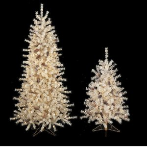 4' Flocked Butte Pine Christmas Tree with Pine Cones - Slim Size - Clear Lights