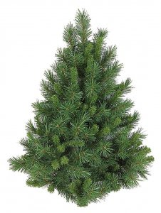 "3' Mixed Pine Wall Half Christmas Tree - 137 Green Tips - 23"" Width - No Stand"