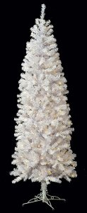 "7.5' White Sugar Pine Christmas Tree - 692 Tips - 450 Clear Lights - 37"" Width"