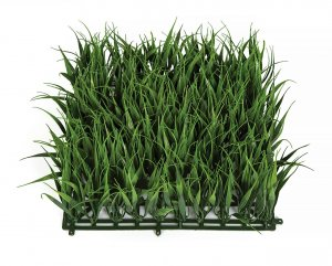 "10"" x 10"" FireSafe Polyblend Outdoor UV Grass Mat. 4"" Grass Height. Made for Indoor/Outdoor"