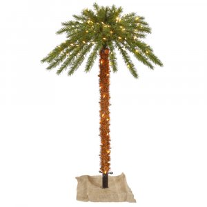 6' Outdoor Palm Tree DuraLit 300CL 67T