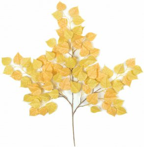 "27"" Cottonwood Branch (Aspen)- Yellow/Light Green - FIRE RETARDANT"