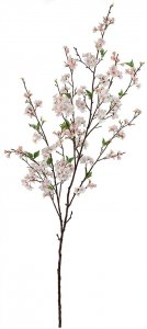6' Cherry Blosssom Tree Branch - Synthetic Stem - Light Pink