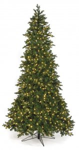 12' St. Lucia Fir Slim LED Christmas Tree