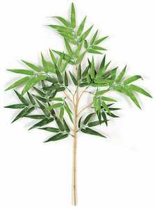 "33"" Bamboo Branch - 96 Leaves - Green - FIRE RETARDANT"