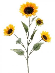 "25"" Small Sunflower Spray x4  Yellow"