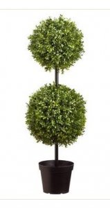 EFA-301 3' Outdoor  Boxwood Double Ball Topiary