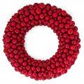 36 Inch Mixed Matte/Reflective Ball Wreaths With Tinsel | Red, Gold, Or Silver