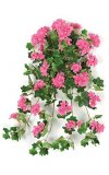 "28"" Geranium Bush - 25 Flower Clusters - 198 Leaves - FIRE RETARDANT"