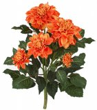 "22"" Dahlia Bush - 6 Flowers - Bare Stem - FIRE RETARDANT"