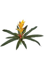"24"" Guzmania Bush - 14 Green Leaves - FIRE RETARDANT"