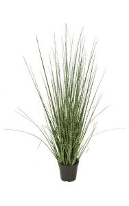"36"" PVC Zebra Grass - Weighted Base"