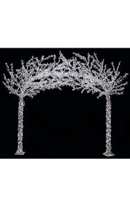 8.25' x 9' Crystal Arch Christmas Tree with LED Lights