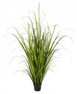 Pvc Wild Green Onion Grass In Pot | 32 Inch Or 52 Inch Sizes