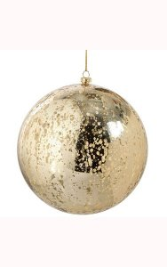 "6"" Plastic Mercury Glass Finish Ball Ornament - Chocolate"