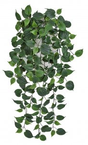 Firesafe Hanging Philodendron Leaf Bush | Length: 24 Inches Or 48 Inches