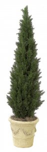 Outdoor UV  Artifcial Cedar Tree In Weighted Base