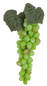 "Plastic Grape Cluster - 90 Grapes - 11"" Length"