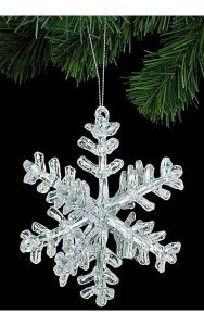 Acrylic 3D Snowflake Ornament - Clear