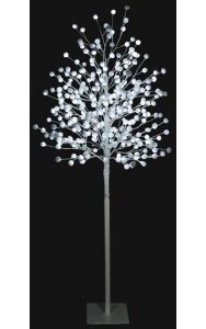 Cotton Ball Tree - White Flashing LED Lights - Indoor/Outdoor