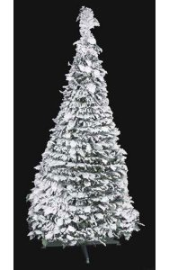 Flocked Holly Pop Up Tree White/Green