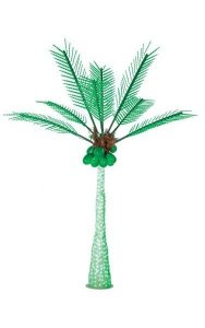 Coconut Palm Christmas Tree - Green LED Lights